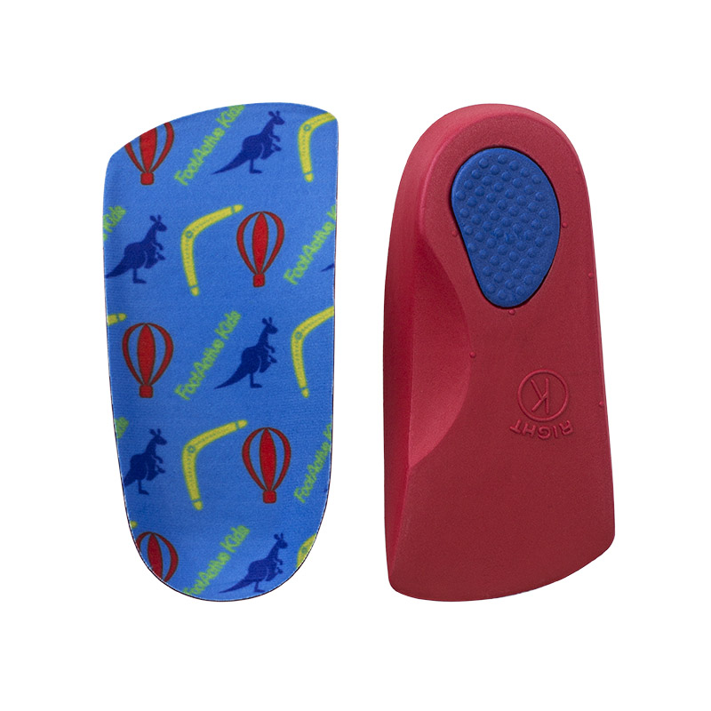 Colourful realigning insoles that help a child develop a normal walking pattern