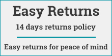 Easy returns for peace of mind