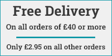 Free delivery on all orders over £40.
