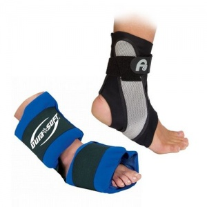 Aircast A60 Ankle Support and DuraSoft Foot/Ankle Ice Pack
