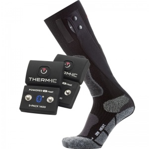 Therm-IC Powersock Uni Heat Heated Sock Set with S-Pack 1400 Bluetooth Battery