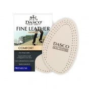Dasco Ladies' White Fine Leather Fashion Insoles