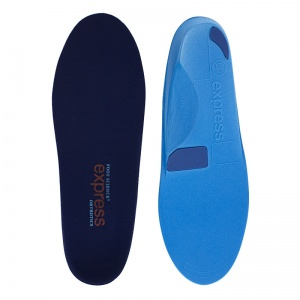 Express Orthotics Firm Density Blue Full Length Insoles