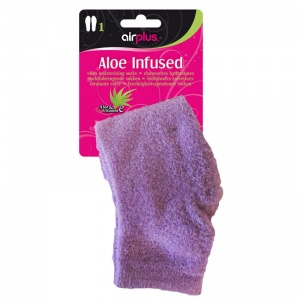 Airplus Purple Aloe-Infused Spa Socks