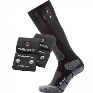 Therm-IC Powersock Uni Heat Heated Sock Double Set with S-Pack 1200 Battery
