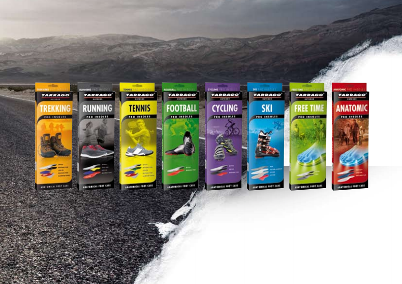 Tarrago Outdoor insoles range of products