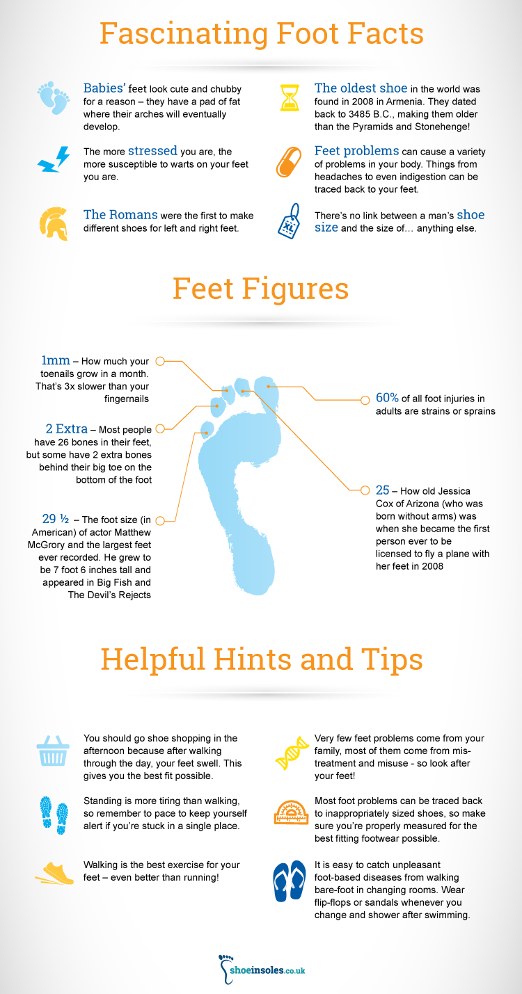 Find Out About Your Feet With Our Infographic