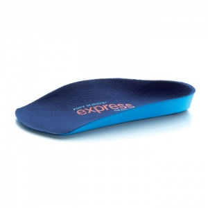 Express Orthotics Firm Density Blue 3/4 Length Insoles