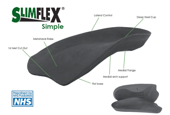 Slimflex Simple 3/4 Length Insoles