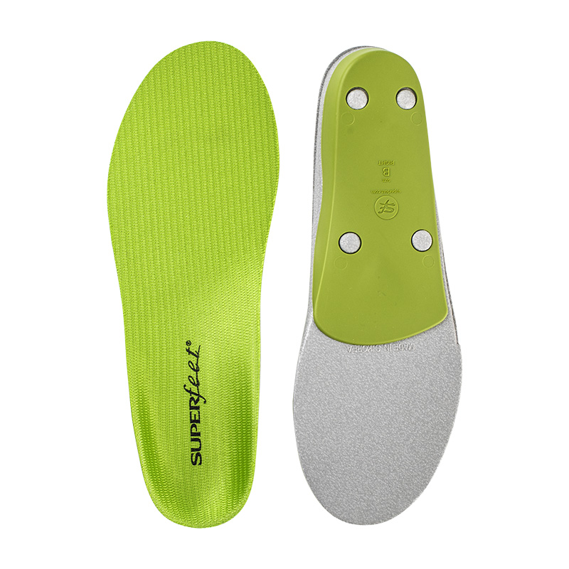 Superfeet green insoles for comfort and stability in everyday life