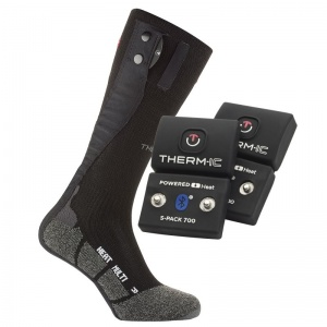 Therm-IC Powersock Multi Heat Heated Sock Set with S-Pack 700B Bluetooth Battery