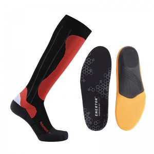 Skiing Support Socks and Insoles for Men Bundle