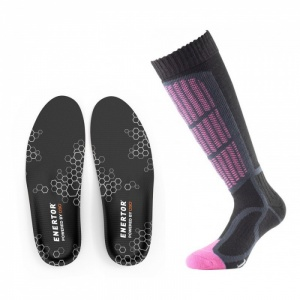 Skiing Support Socks and Insoles for Women Bundle