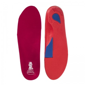 Vasyli Red 6 Degree Custom Orthotic Insoles